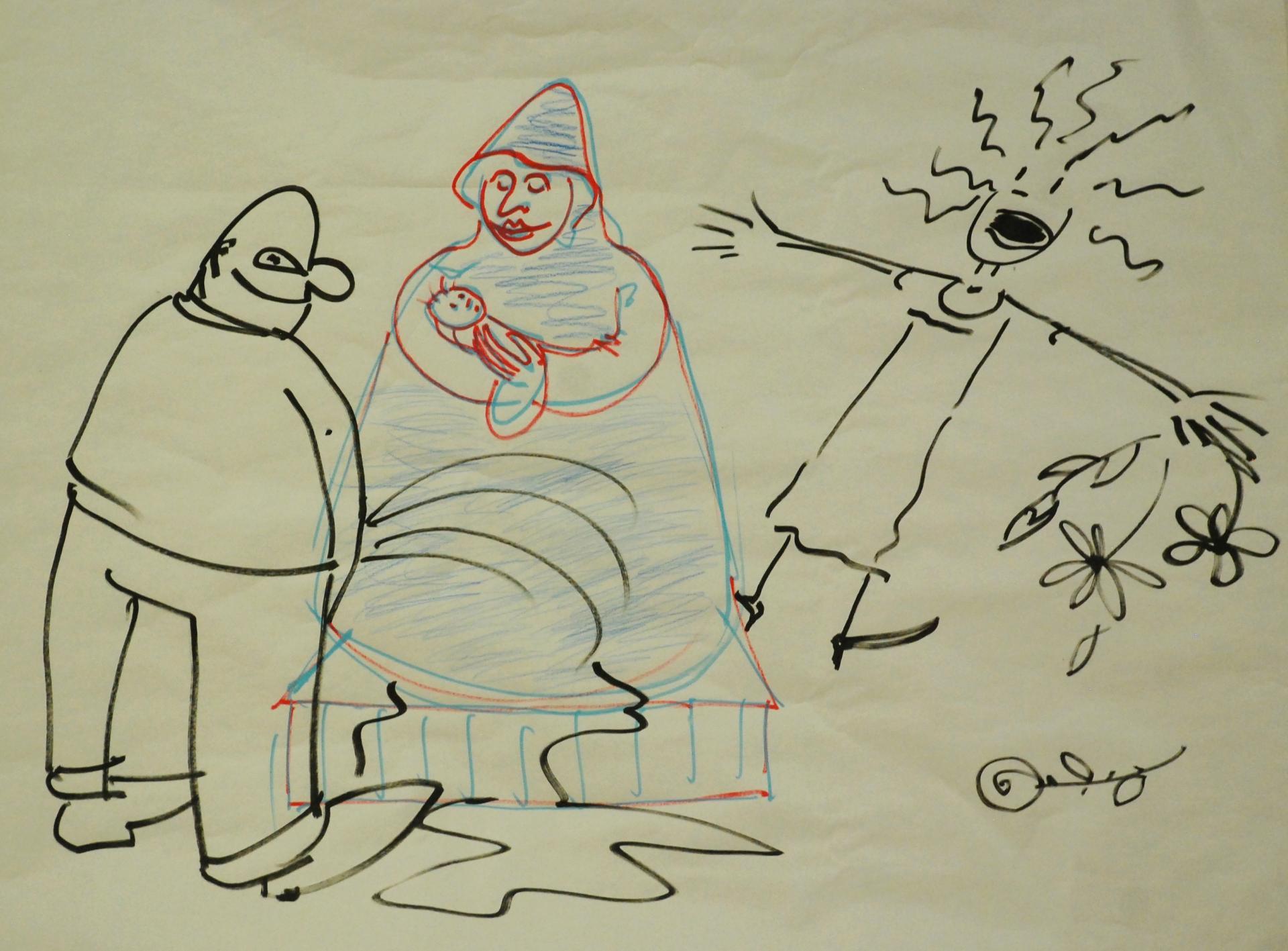 dessin de JP Molin pour illustrer la notion de blasphème